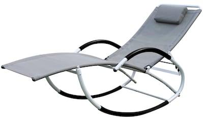 LECO Gartenliege Stahl/Textil, verstellbar, inkl. Kopfkissen kaufen