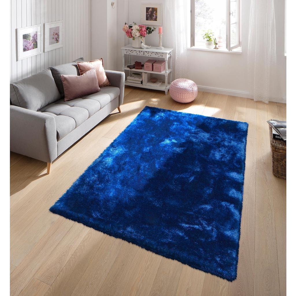 my home Hochflor-Teppich »Mikro Soft Super«, rechteckig, 50 mm Höhe, Besonders weich durch Microfaser, extra flauschig, Wohnzimmer