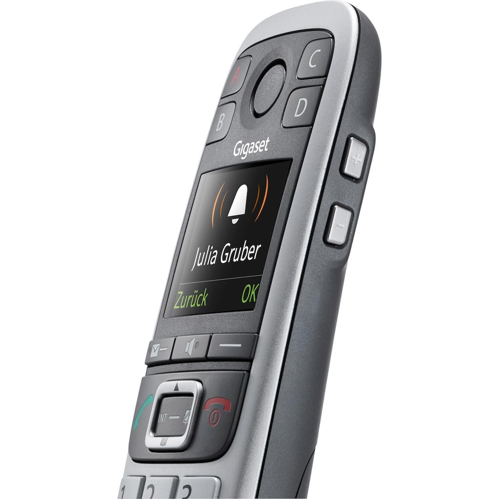 Gigaset Schnurloses DECT-Telefon »E560 A«, (Mobilteile: 1 ), mit Anrufbeantworter, Weckfunktion, Freisprechen