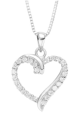 Amor Kette mit Anhänger »Herz, 9194568«, mit Zirkonia kaufen