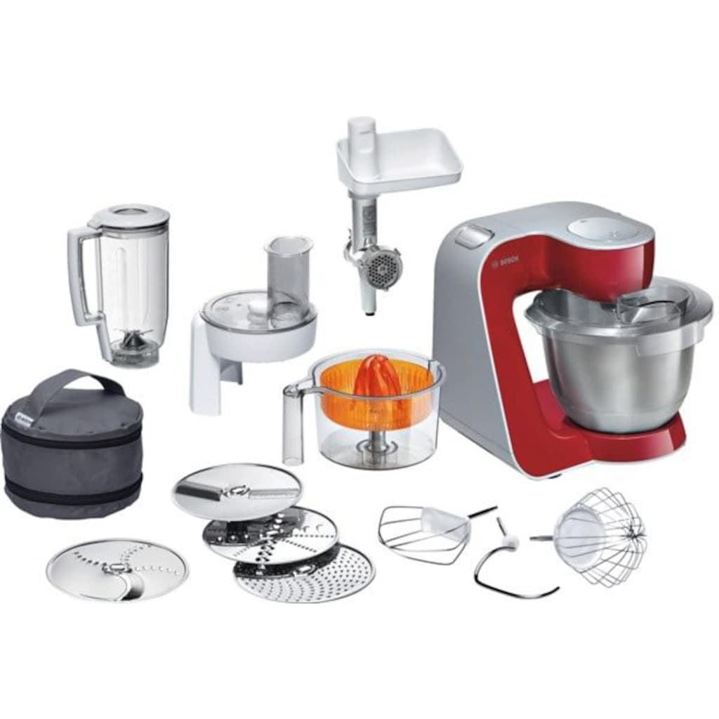 BOSCH Küchenmaschine »Styline MUM56740«, 900 W, mit Edelstahl-Schüssel, automatischer Kabeleinzug, mit Zubehör im Wert von ca. 111€ UVP