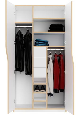 Müller SMALL LIVING Kleiderschrank »PLANE Ausstattung Nr. 2«, Inklusive 3 innenliegenden Schubladen und 2 Kleiderstangen kaufen