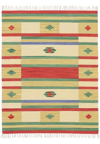 carpetfine Teppich »Kelim Mirza«, rechteckig, 5 mm Höhe, Flachgewebe, Wendeteppich,... kaufen