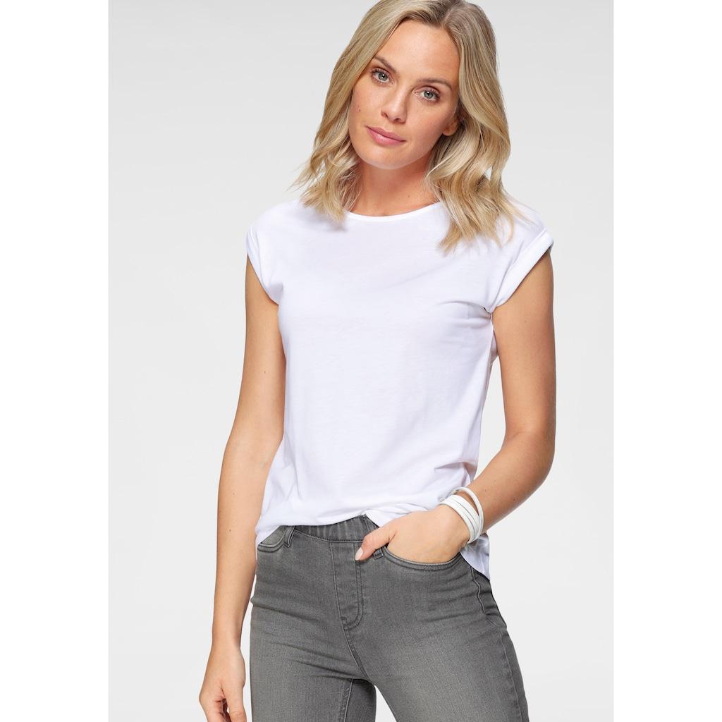 Flashlights T-Shirt, mit überschnittenen Schultern & kleinem Ärmelaufschlag