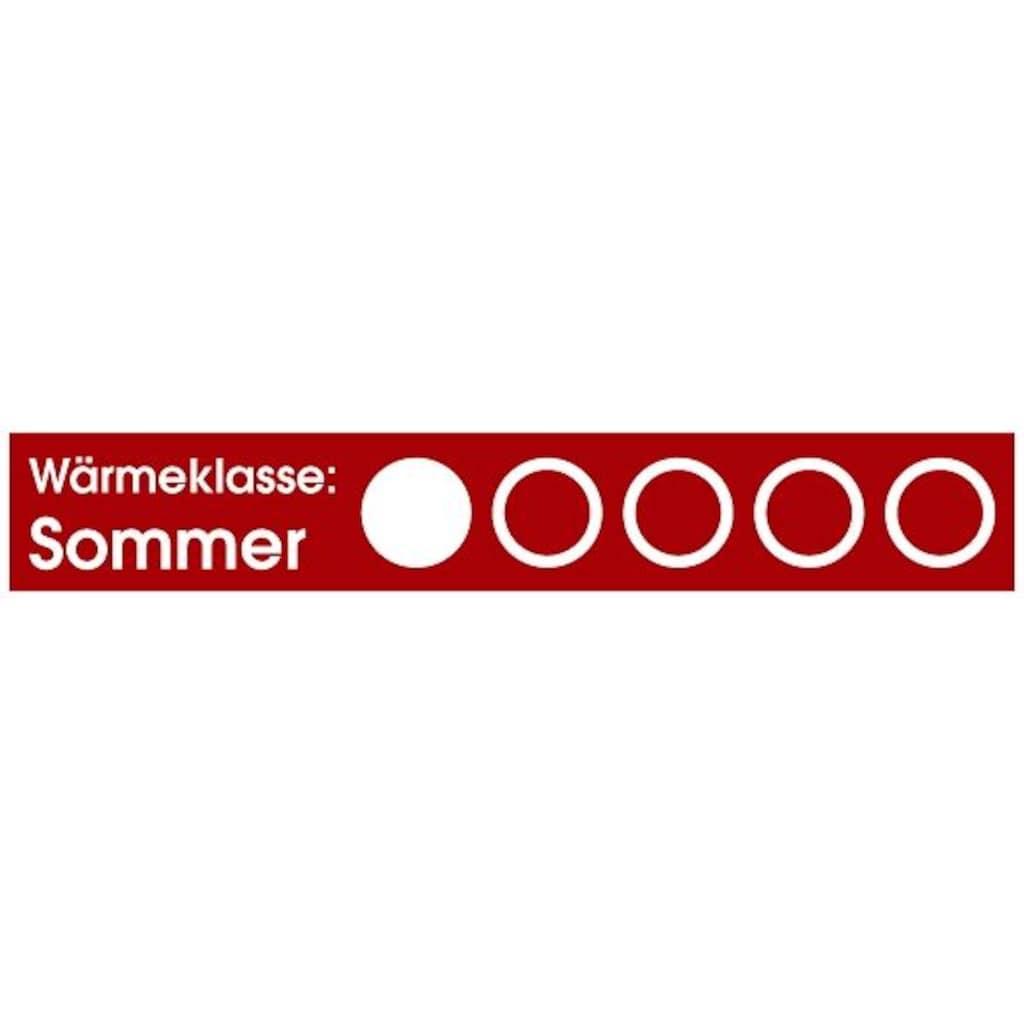 Otto Keller Gänsedaunenbettdecke »Bella«, leicht, Füllung 90% Gänsedaunen, 10% Federn, Bezug 100% Baumwolle, (1 St.), Echte Gänsedaunen zum absoluten Hammerpreis!