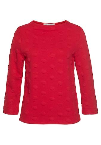 bianca Sweatshirt, Kylin, mit tollem Allover-Punkte-Muster kaufen