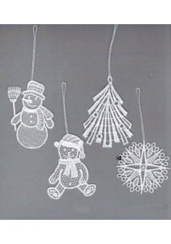 Stickereien Plauen Dekohänger »Winterzeit« (Set 8 Stück gemischt (je Motiv 2 Stück)) kaufen