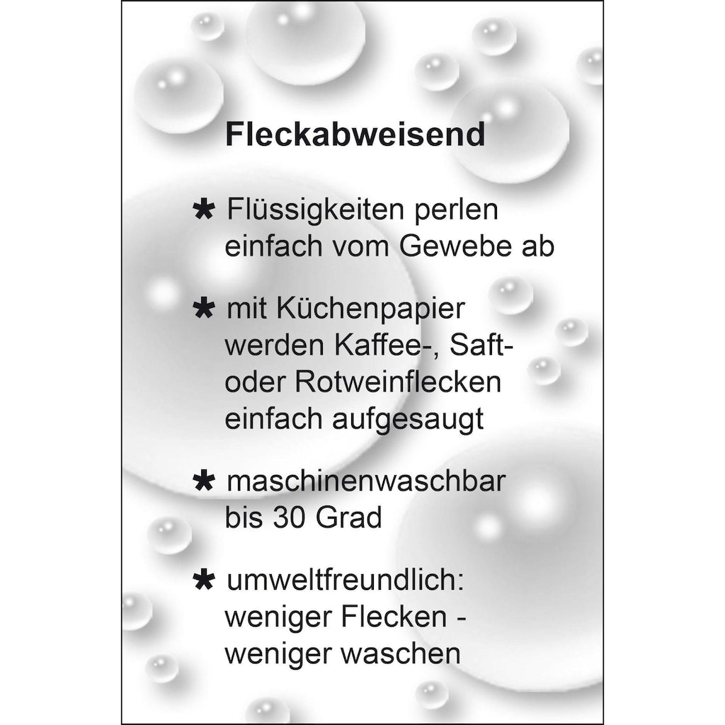 Delindo Lifestyle Mitteldecke »MARMOR«, Jacquard, Fleckschutz, 200 g/m²