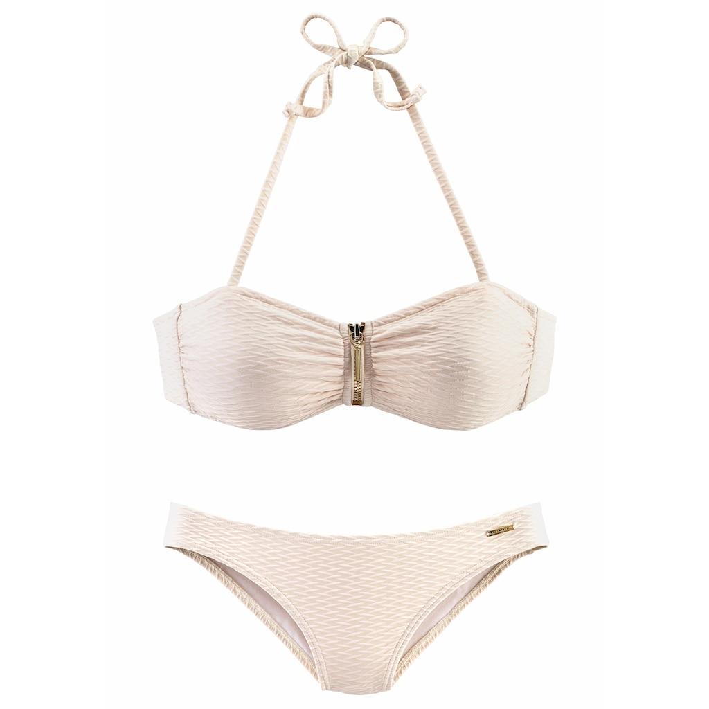 Bruno Banani Bandeau-Bikini, in schöner Strukturware