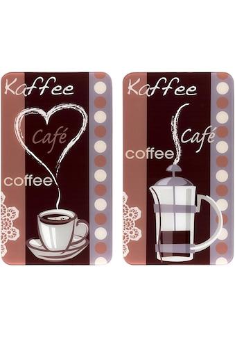 """WENKO Herd - Abdeckplatte """"Kaffeeduft"""", Glas, (Set, 2 - tlg.) kaufen"""