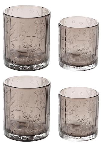 Teelichthalter »Winterwald« (4 Stück) kaufen