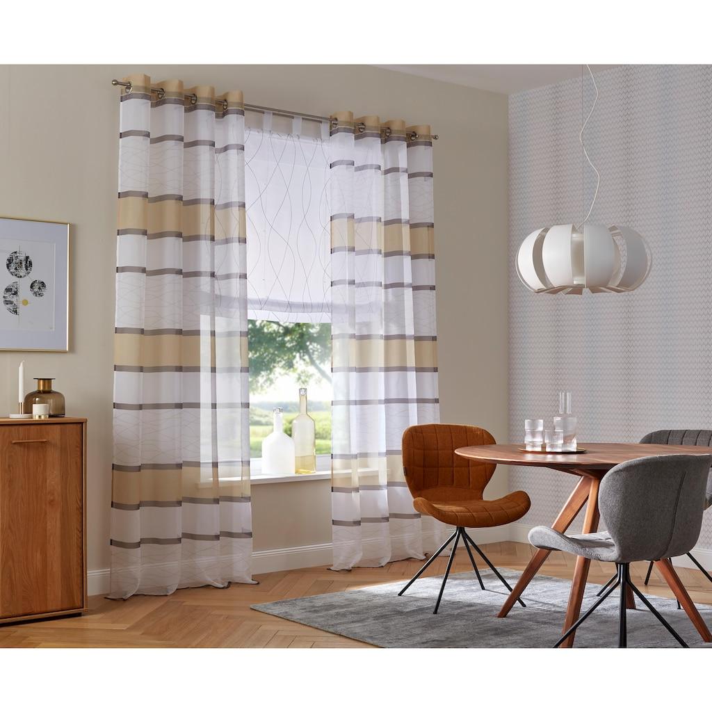 my home Raffrollo, mit Schlaufen