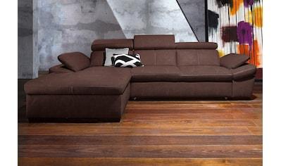 exxpo - sofa fashion Ecksofa, inklusive Kopfteil- und Armteilverstellung, wahlweise... kaufen