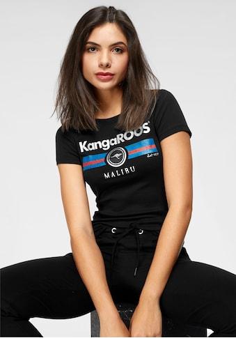 KangaROOS T-Shirt, mit Label Metallic Print kaufen