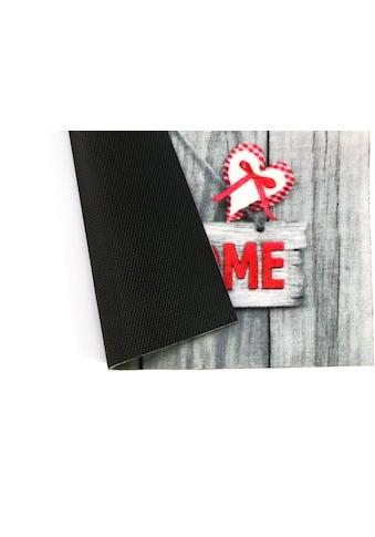 my home Fußmatte »Welcome-Holz«, rechteckig, 5 mm Höhe kaufen