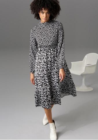 Aniston CASUAL Blusenkleid, mit trendigem Zick-Zack-Mustert - NEUE KOLLEKTION kaufen