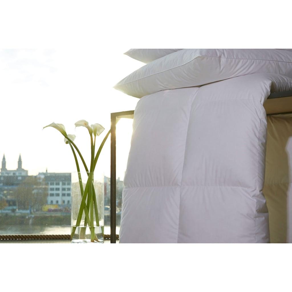 Centa-Star Gänsedaunenbettdecke »Harmony«, extraleicht, Füllung 100% Gänsedaunen, Bezug 100% Baumwolle, (1 St.), Hochwertige Gänsedaunen umhüllt von feinstem Mako-Daunenbatist