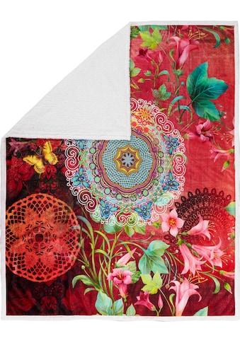 hip Plaid »Novali«, mit Mandala und Blumen kaufen
