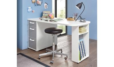 Begabino Schreibtisch »Yoris«, mit 3 Schubkästen und seitlichen Fächern kaufen