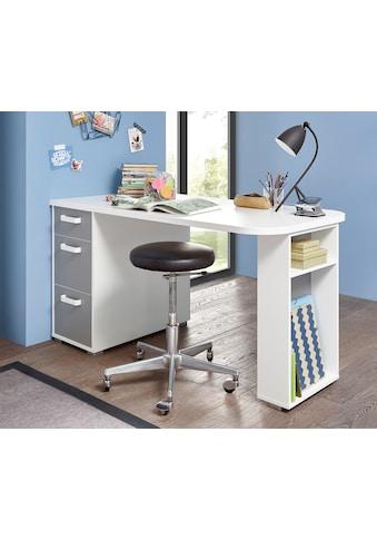 Schreibtisch »Yoris«, mit 3 Schubkästen und seitlichen Fächern kaufen