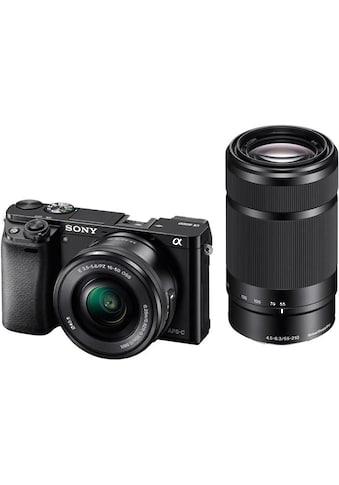 Sony Systemkamera »Alpha ILCE-6000Y Set«, Sony 16-50, Sony 55-210, WLAN (Wi-Fi),... kaufen