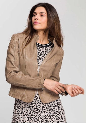 DSCVR Lederjacke »Sophie«, Mit leichten Schulterpostern kaufen