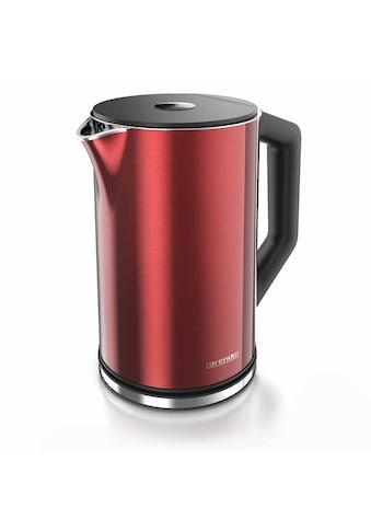 Arendo Wasserkocher »ELEGANT 1,5 Liter - Rot Metallic«, 2200 W, mit Temperatureinstellung kaufen