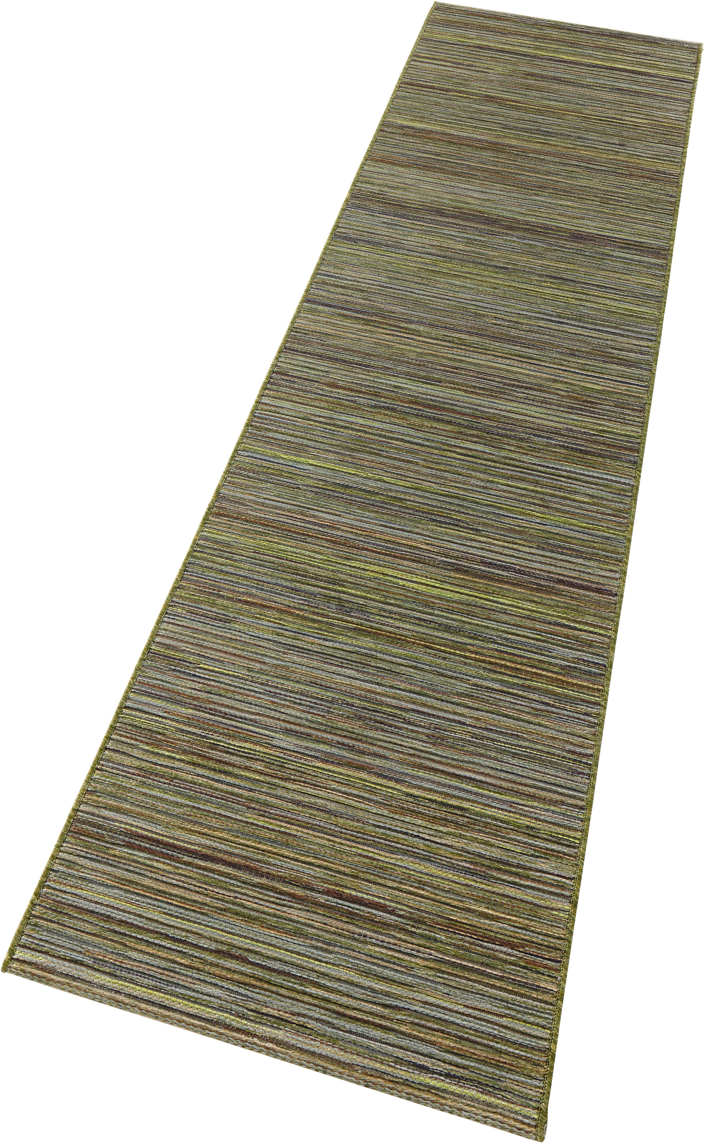 Läufer, »Lotus«, bougari, rechteckig, Höhe 7 mm, maschinell gewebt   Heimtextilien > Teppiche > Läufer   Grün   BOUGARI