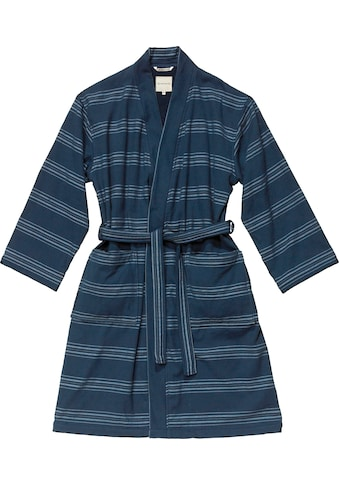 TOM TAILOR Unisex-Bademantel »Wellness Kimono«, mit Streifen kaufen