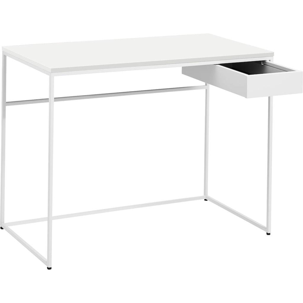 now! by hülsta Schreibtisch »CT 17«, mit Schublade und weißem Gestell