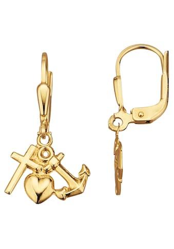 Firetti Paar Ohrhänger »Glaube, Liebe, Hoffnung, glänzend« kaufen