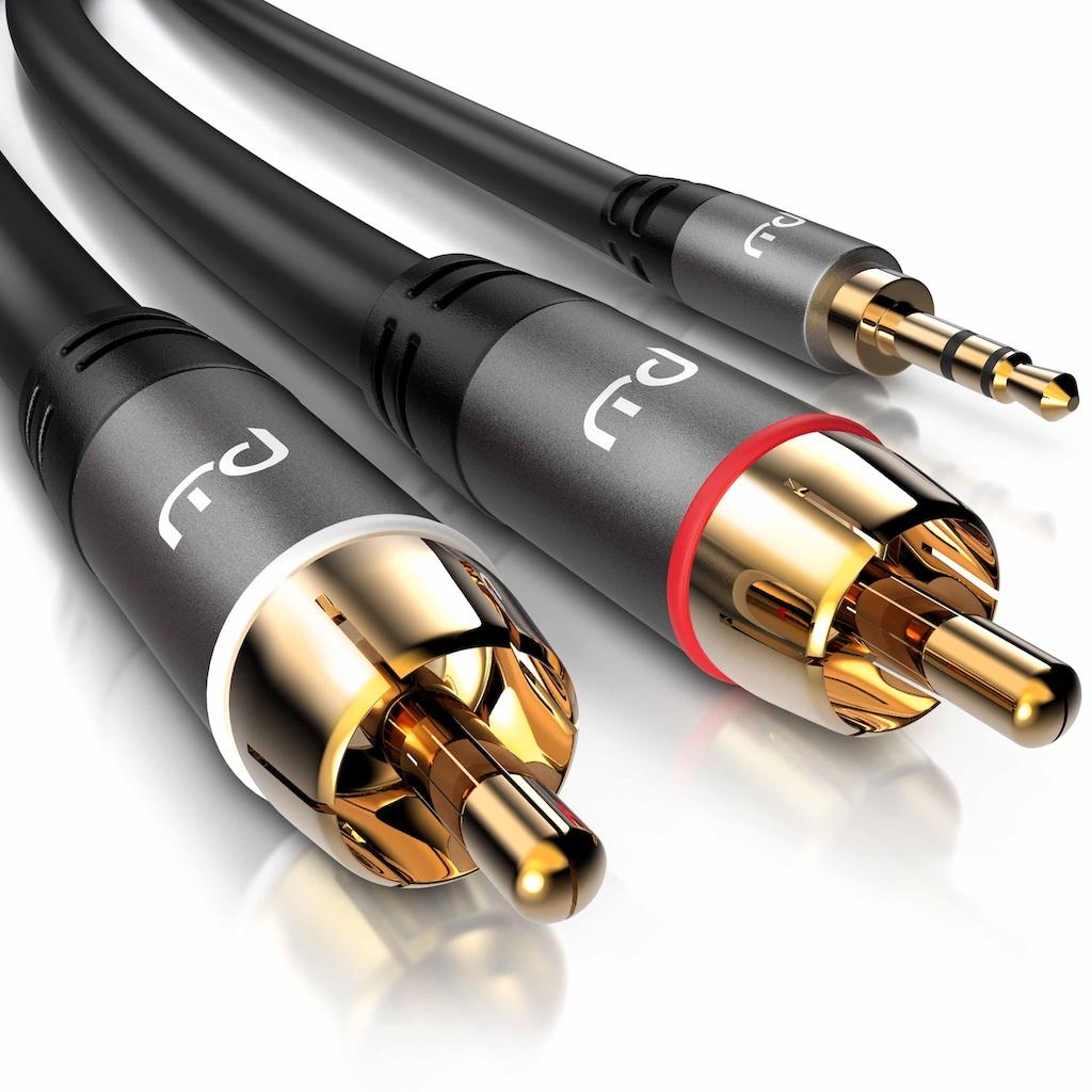 Primewire Audio-Kabel »3,5mm Klinken Stecker zu 2x Cinch / RCA Stecker«, 150 cm