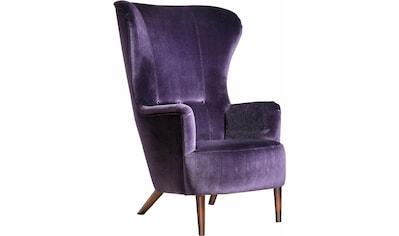 Max Winzer® Sessel »Liana«, im Retrostil, mit Knopfheftung, Hochlehner kaufen