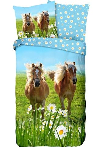 good morning Kinderbettwäsche »Horses«, mit Pferden kaufen