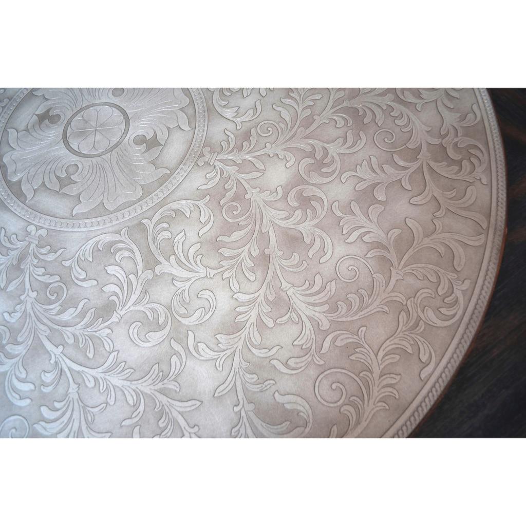 Leonique Couchtisch »Rafferty«, mit aufwendigen Metallakzenten