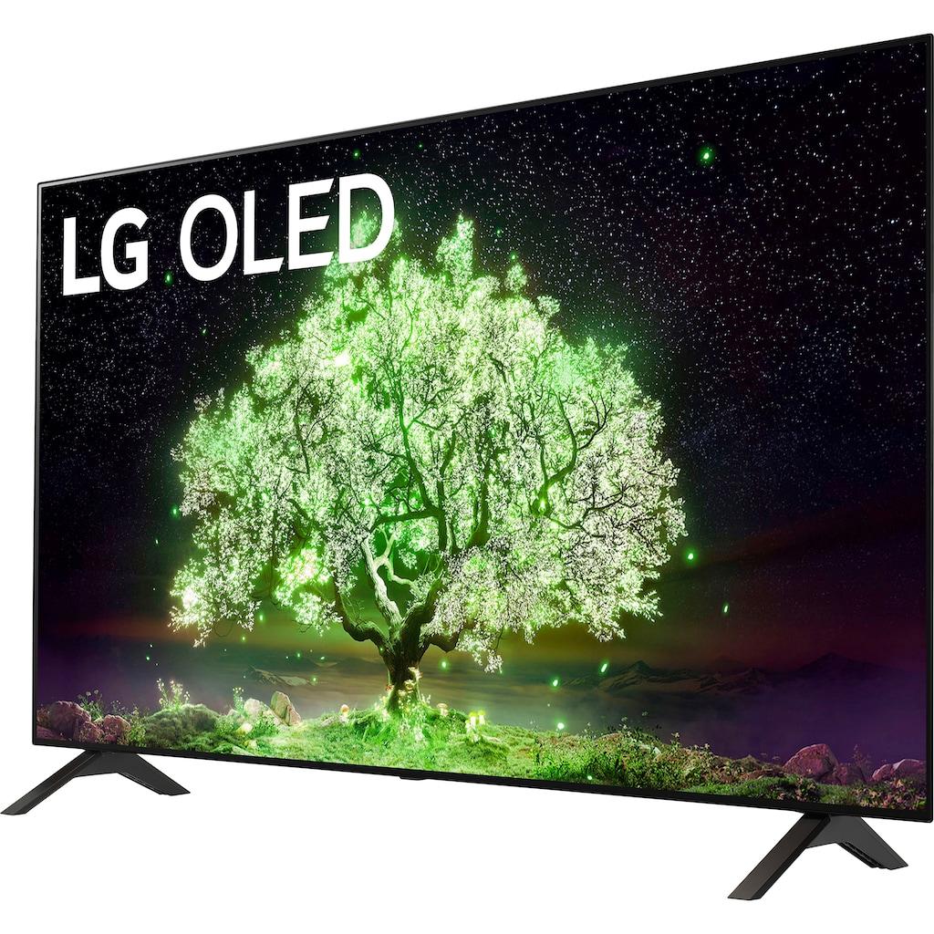 "LG OLED-Fernseher »OLED48A19LA«, 121 cm/48 "", 4K Ultra HD, Smart-TV, (bis zu 60Hz)-α7 Gen4 4K AI-Prozessor-Sprachassistenten-Dolby Vision IQ™-Dolby Atmos®"