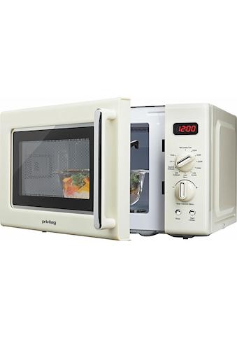 Privileg Mikrowelle »670559«, Grill, 700 W, im Retro-Design, 8 Automatikprogramme, beige kaufen