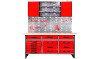 ONDIS24 Werkstatt - Set »Konny«, 160 cm, mit LED Touch - Lampen, inkl. Hakenset kaufen