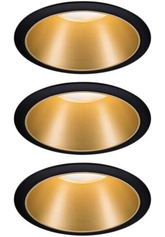 Paulmann LED Einbauleuchte »3er Set Cole 3x6,5W Schwarz/Gold matt 2700K Warmweiß«,... kaufen