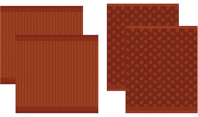 DDDDD Geschirrtuch »Petals«, (Set, 4 tlg., Combi-Set: bestehend aus 2x Küchentuch + 2x... kaufen