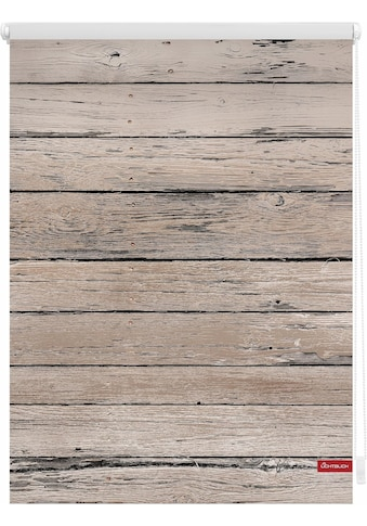 LICHTBLICK ORIGINAL Seitenzugrollo »Klemmfix Motiv Bretter Vintage«, Lichtschutz, ohne... kaufen