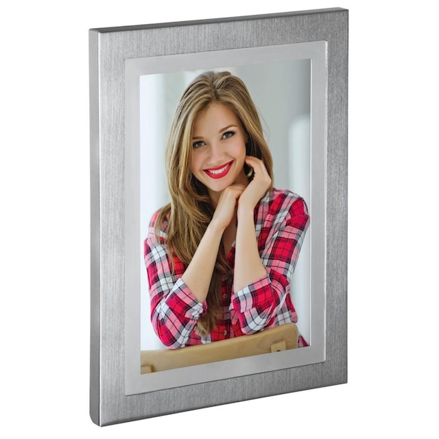 "Hama Porträtrahmen ""Melbourne"", Silber, 13 x 18 cm »Porträt-Bilderrahmen«"