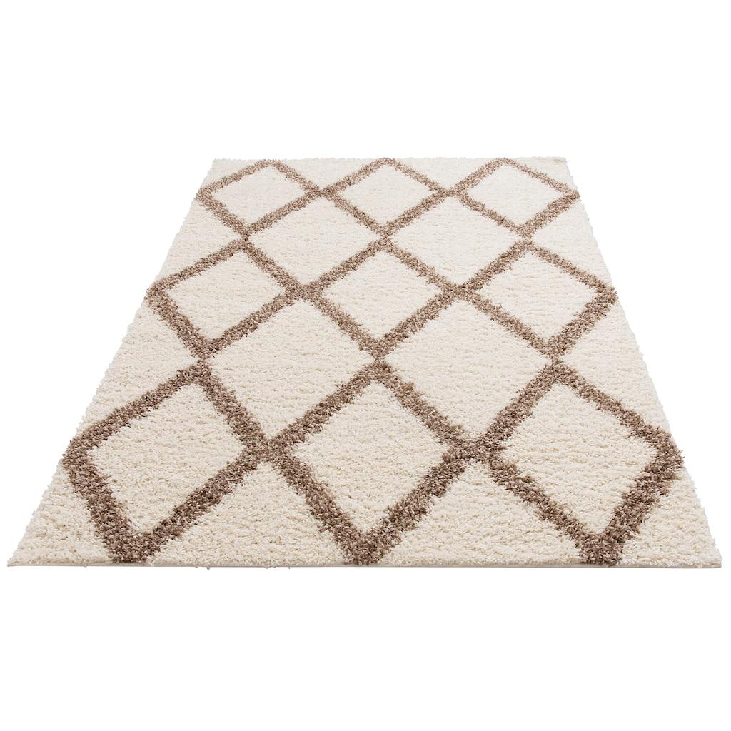 Hochflor-Teppich, »Linz«, my home, rechteckig, Höhe 31 mm, maschinell gewebt