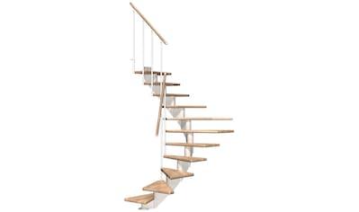 DOLLE Mittelholmtreppe »Hamburg Eiche 75«, bis 322 cm, Metallgeländer, versch. Ausführungen kaufen