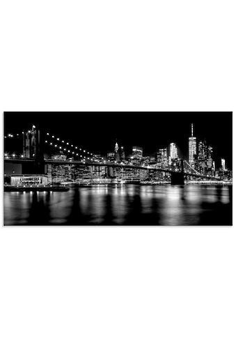Artland Glasbild »Manhattan Skyline & Brroklyn Bridge«, Amerika, (1 St.) kaufen