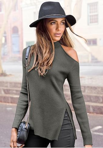 LASCANA Strickpullover, mit Cut-out an der Schulter kaufen