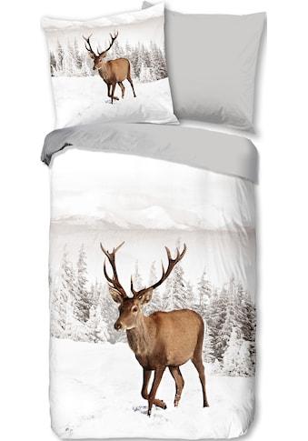 Wendebettwäsche »Deer«, good morning kaufen