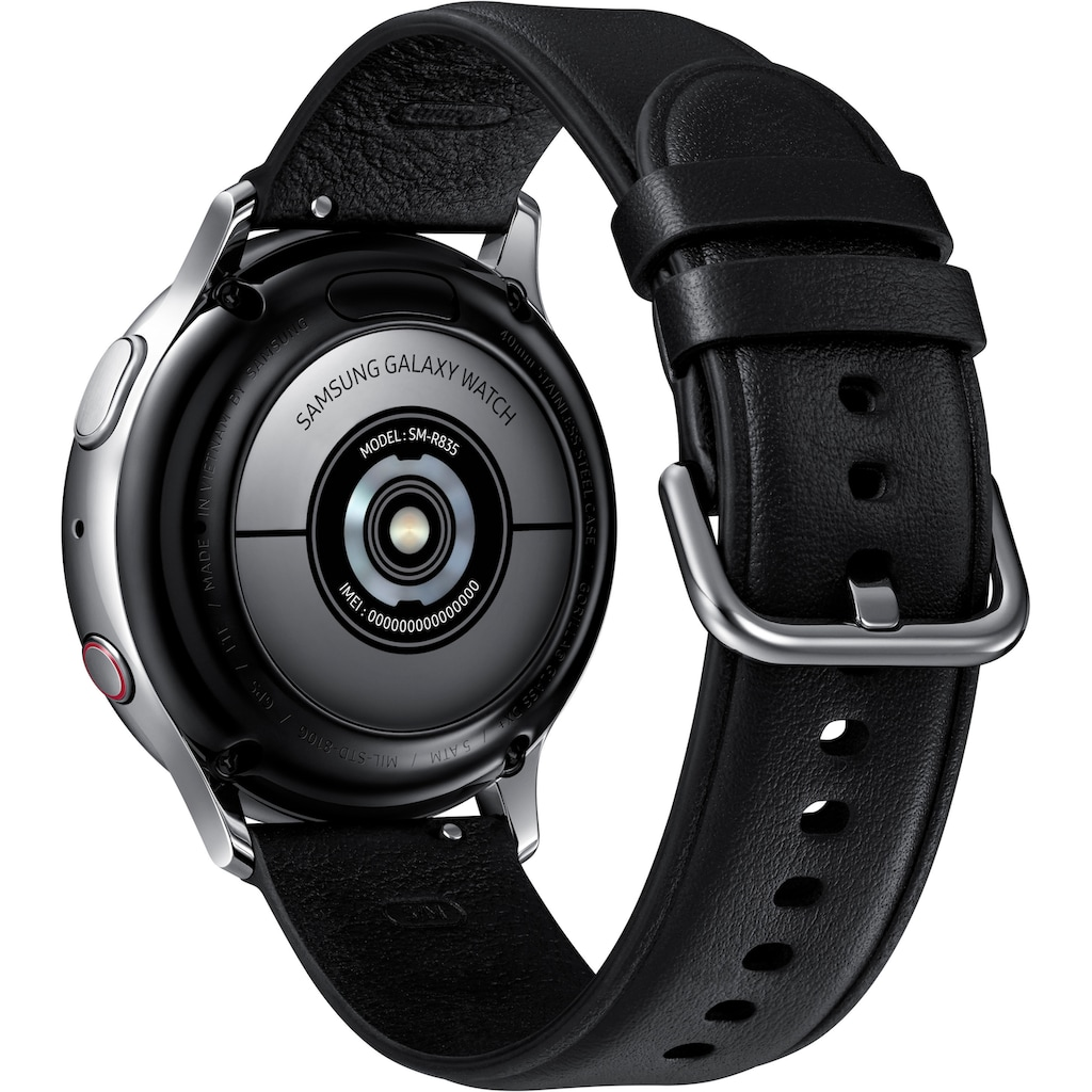 Samsung Smartwatch »Galaxy Watch Active2 Edelstahl, 40 mm, LTE & Bluetooth (SM-R835)«