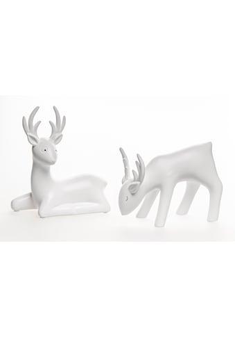 VALENTINO Wohnideen Tierfigur »Junus« (Set, 2 Stück, 1x liegend, 1x fressend) kaufen