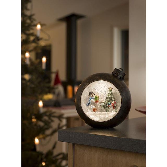 KONSTSMIDE LED Weihnachtskugel mit Schneemänner